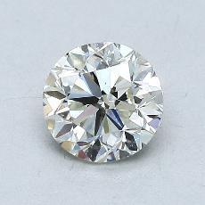 0.90 Carat 圆形 Diamond 良好 K VS2