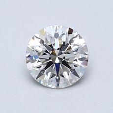 0.80 Carat 圓形 Diamond 理想 I VVS2