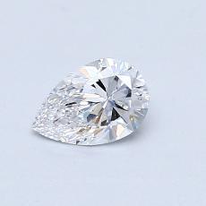 0.44-Carat Pear Diamond Very Good D VVS2