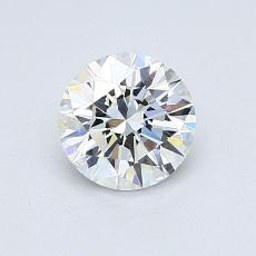 0,77-Carat Round Diamond Ideal D VVS1