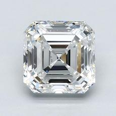 2.01-Carat Asscher Diamond Very Good F VS1