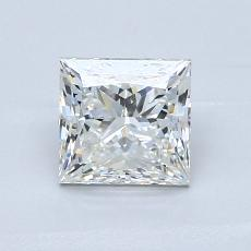 0,92-Carat Princess Diamond Very Good I VVS2