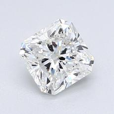 1,23-Carat Radiant Diamond Very Good F VVS2