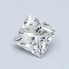 0.90 Carat 公主方形 Diamond 非常好 H VS2