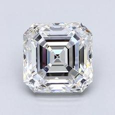 1,80 Carat Asscher Diamond Très bonne E VVS1