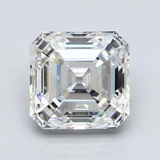 2.01-Carat Asscher Diamond Very Good F VVS2
