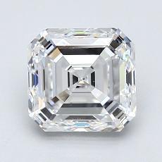 Piedra recomendada 1: Diamante de talla Asscher de 1.70 quilates