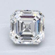 1.83-Carat Asscher Diamond Very Good F VVS2