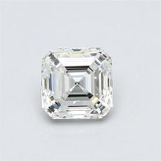0,72-Carat Asscher Diamond Very Good H VVS1