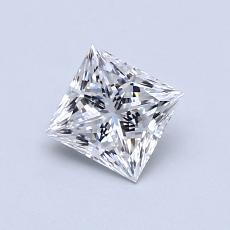 0.70-Carat Princess Diamond Very Good E VVS2