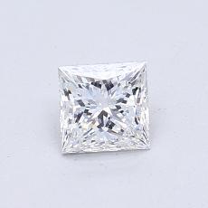 0.57-Carat Princess Diamond Very Good D SI1