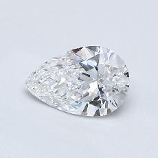 0.50-Carat Pear Diamond Very Good D VVS1