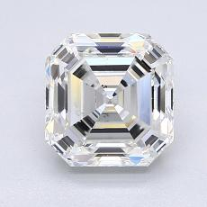 2.01-Carat Asscher Diamond Very Good G SI2