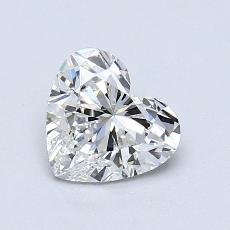 0,90-Carat Heart Diamond Very Good G VS2