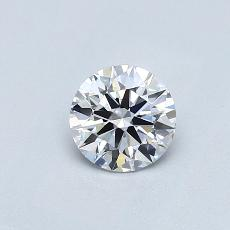 0,70-Carat Round Diamond Ideal E VVS2