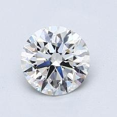 1.00-Carat Round Diamond Ideal F VVS2