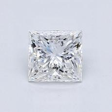 0.86-Carat Princess Diamond Very Good E VVS2