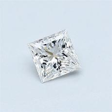 0.45-Carat Princess Diamond Very Good F IF