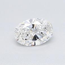 0.52-Carat Oval Diamond Very Good D IF