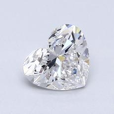 0.91-Carat Heart Diamond Very Good D SI1