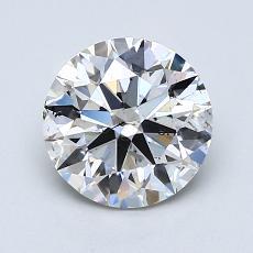 1.50-Carat Round Diamond Ideal F SI2