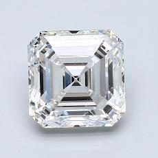 Pierre recommandée n°3: Diamant taille Asscher 2,20 carat