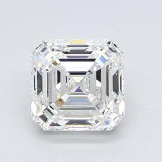 1.52-Carat Asscher Diamond Very Good H VVS2
