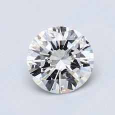 ターゲットの石:0.87カラットのラウンドカットダイヤモンド