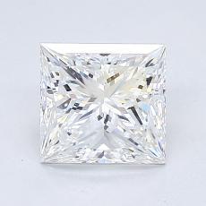 推荐宝石 1:1.40 克拉公主方形钻石