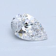 0.91 Carat 梨形 Diamond 非常好 D VS2