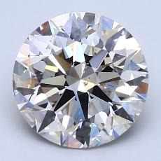 3.01-Carat Round Diamond Ideal J SI1