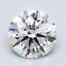 2.00-Carat Round Diamond Ideal D VVS1