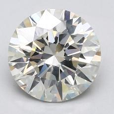 3,06-Carat Round Diamond Ideal K SI2