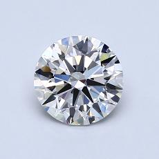 0.91-Carat Round Diamond Ideal H VVS1