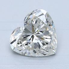 Piedra recomendada 3: Diamante con forma de corazón de 1.30 quilates