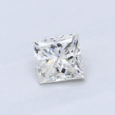 オススメの石No.4:0.54カラットのプリンセスカットダイヤモンド