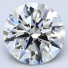 4.01-Carat Round Diamond Ideal H VS2