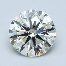 3.01-Carat Round Diamond Ideal I SI1