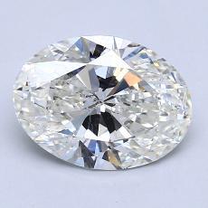 2.01-Carat Oval Diamond Very Good I SI2