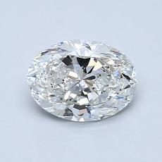 1.00-Carat Oval Diamond Very Good D SI1