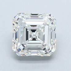 1.51-Carat Asscher Diamond Very Good H VVS2
