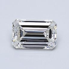 1.00-Carat Emerald Diamond Very Good H VVS2