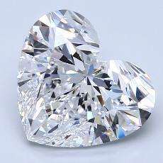 4.01-Carat Heart Diamond Very Good D VVS2
