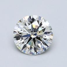 1.01-Carat Round Diamond Ideal I SI1
