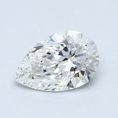 0.77-Carat Pear Diamond Very Good E IF