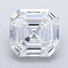 3.03-Carat Asscher Diamond Very Good E VVS2