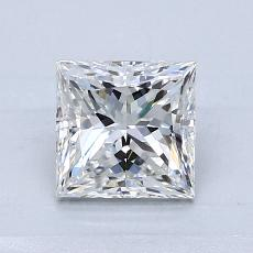 1.04 Carat 公主方形 Diamond 非常好 E VVS2