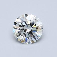 0.70-Carat Round Diamond Ideal D VVS2