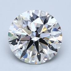 2.02-Carat Round Diamond Ideal G VS2