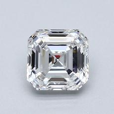 1.01-Carat Asscher Diamond Very Good D VS1